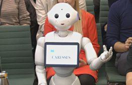 Перед британским парламентским комитетом впервые выступил робот