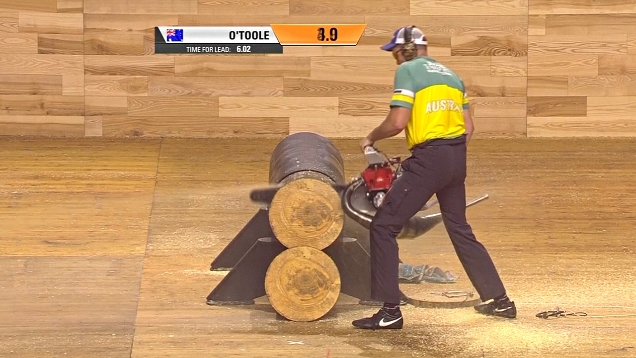 Конкурс лесорубов: чемпионом мира стал австралиец