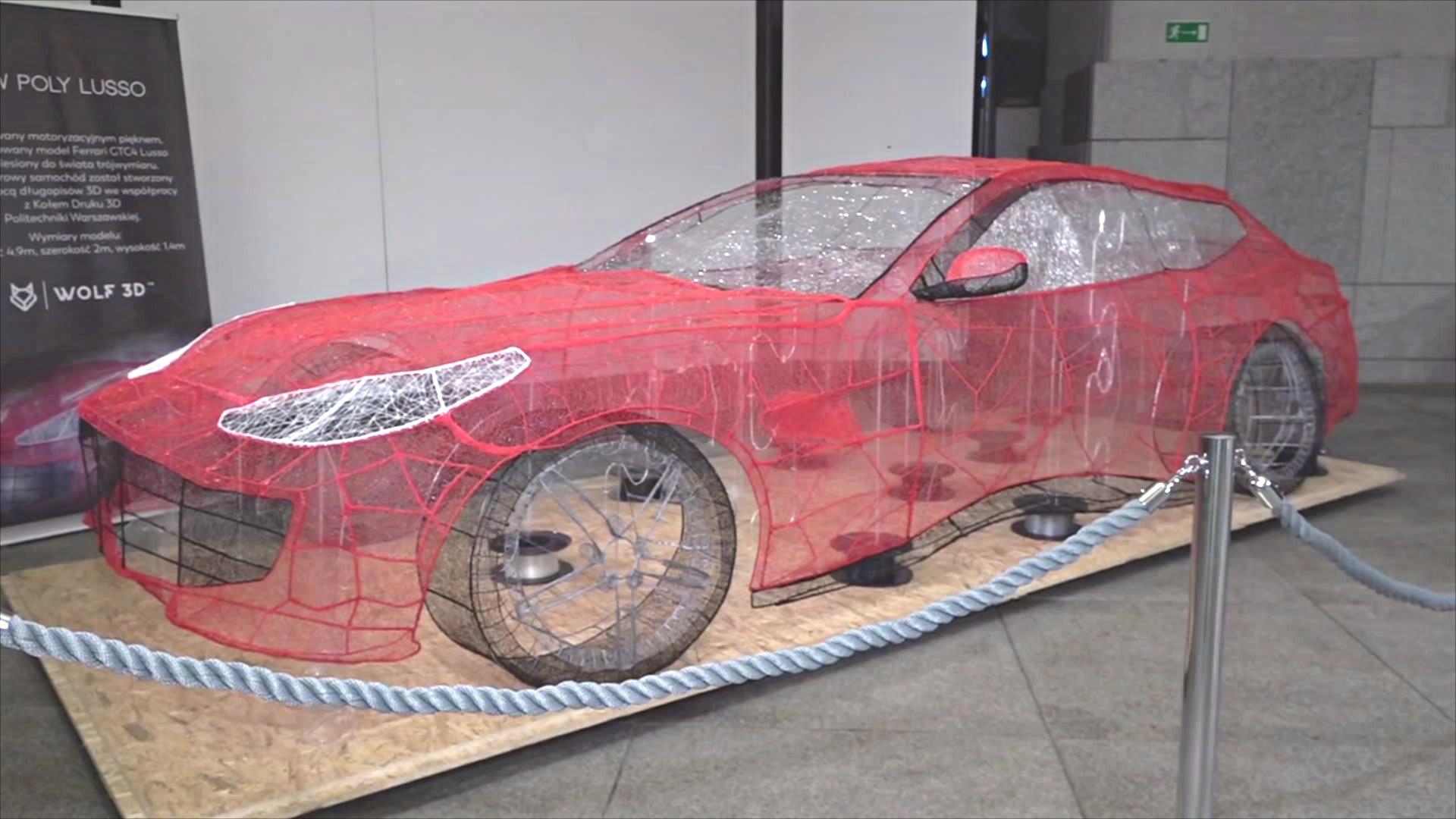 Ажурную модель Ferrari показали на форуме 3D-дизайнеров в Польше