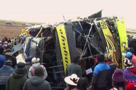 ДТП с участием автобуса в Перу, 18 погибших