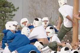 Японские кадеты сразились за столб