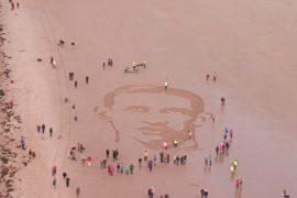 Лица Первой мировой появились на британских пляжах