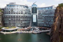 В Шанхае построили отель в заброшенном карьере