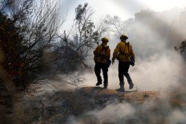 Пожары на севере Калифорнии удалось сдержать на 40%