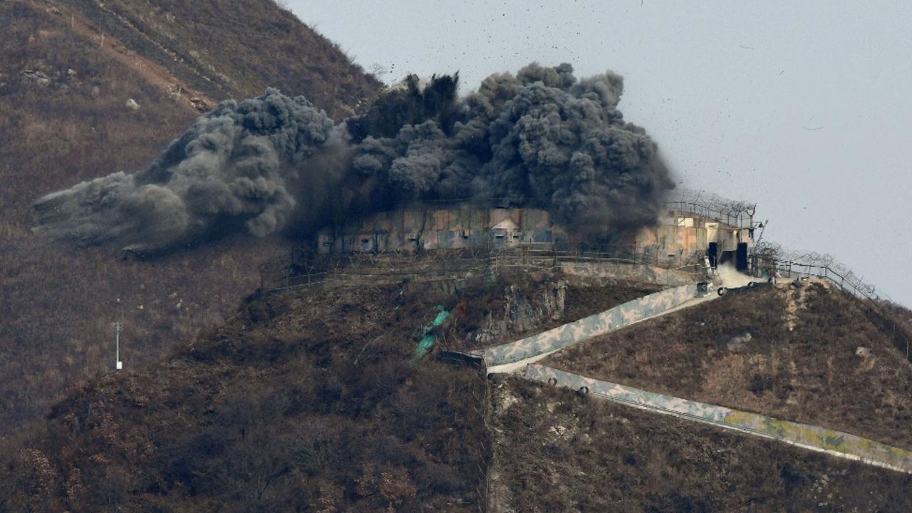 КНДР обнародовала видео с уничтожением своих пограничных постов