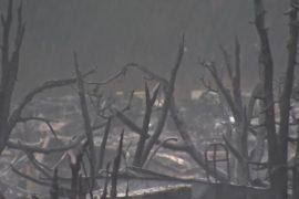 Начавшиеся дожди добавили проблем погорельцам в Калифорнии