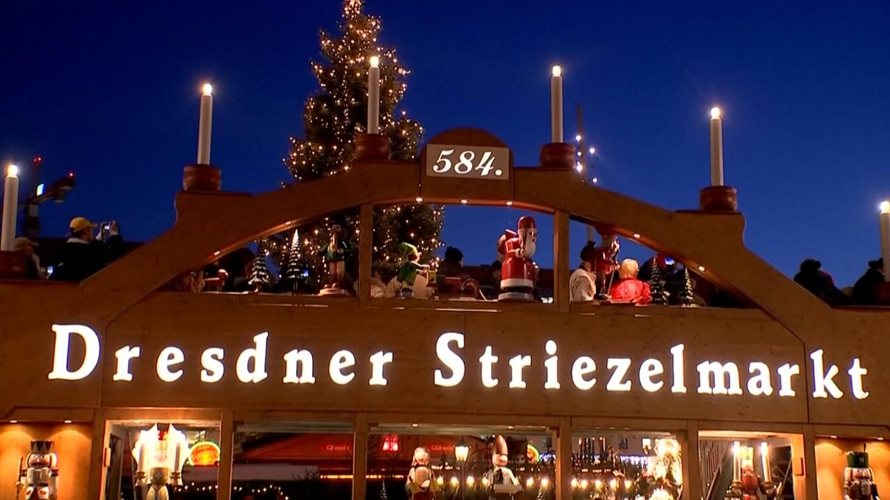 Старейшая рождественская ярмарка Германии открылась в Дрездене