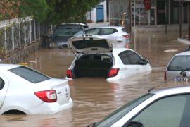 В Турции затопило туристический город Бодрум