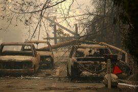 После пожаров в Калифорнии: жителей Парадайса пустили на пепелище