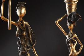 Братья-буркинийцы хранят старинную традицию бронзового литья
