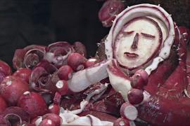 Дворцы и скульптуры из редиски создали к Рождеству в Мексике