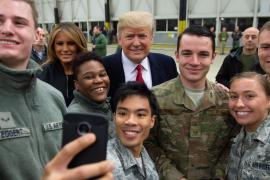 Дональд Трамп нанёс рождественский визит на базу ВВС США в Ираке