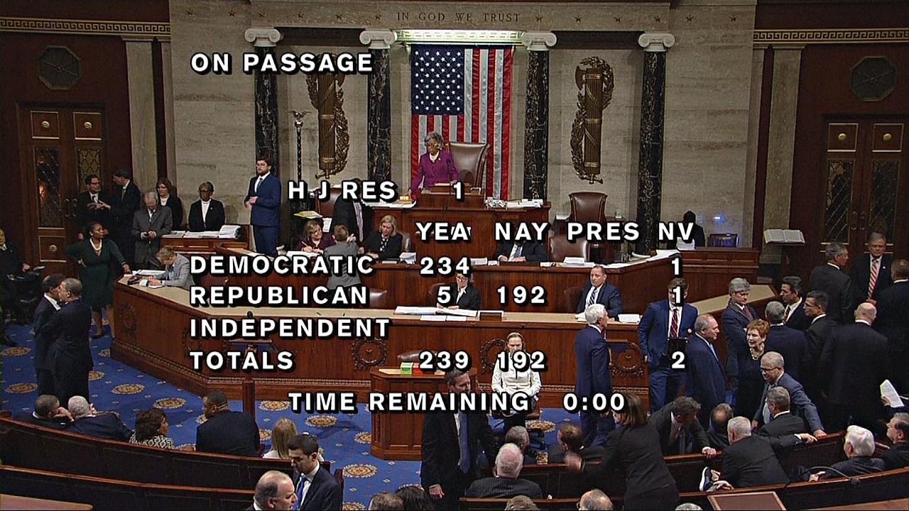 Демократы утвердили бюджет без учёта стены