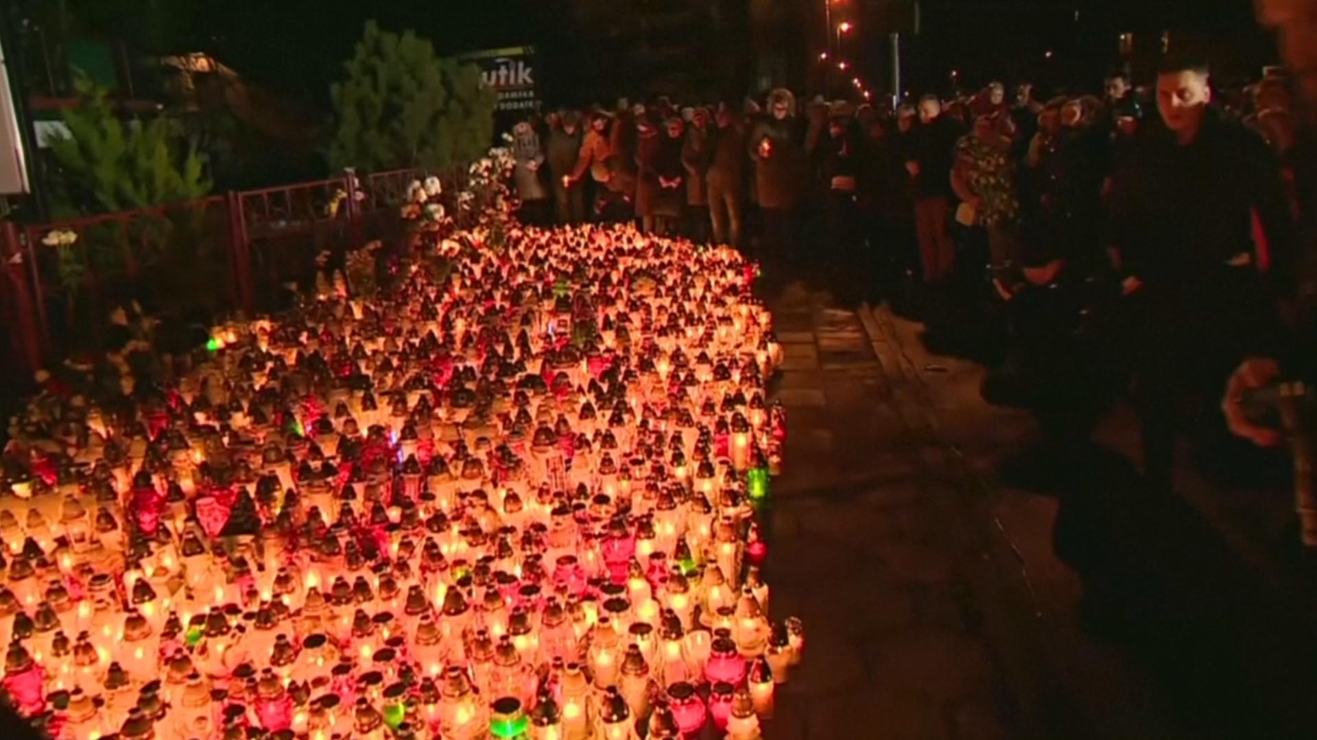 В Кошалине почтили память девушек, погибших в квест-комнате