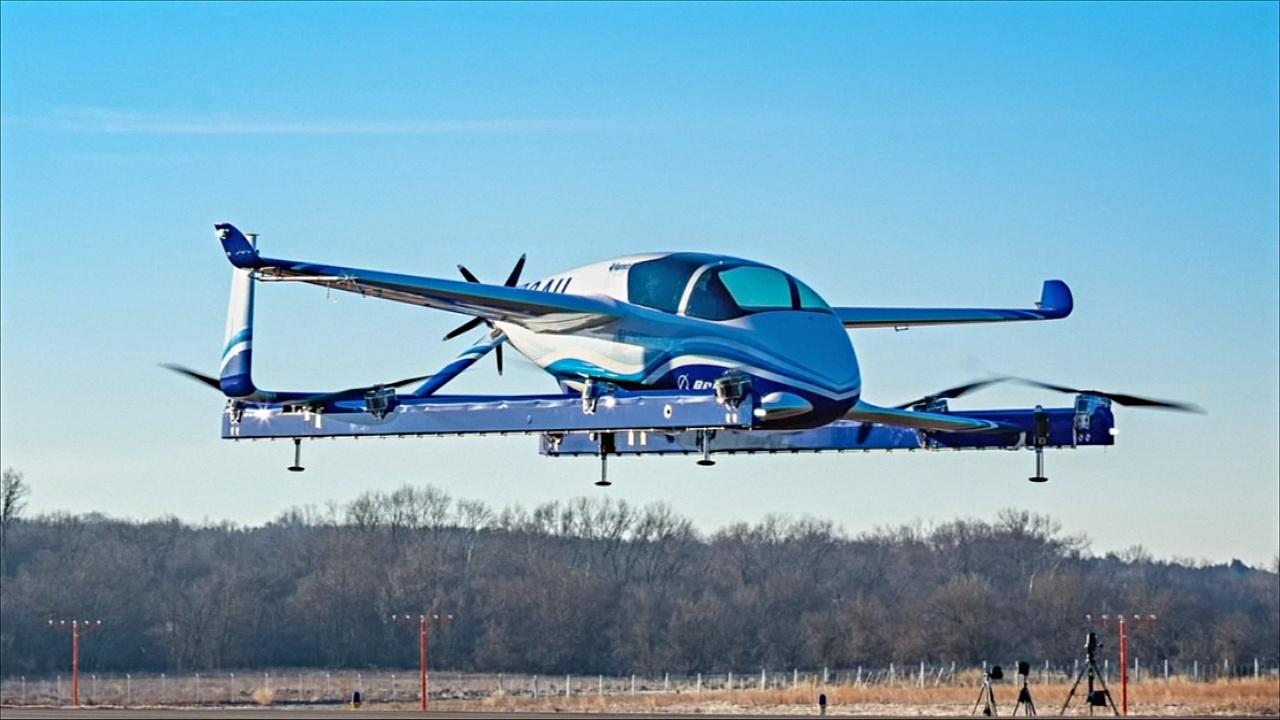 Boeing впервые протестировал прототип беспилотного аэротакси