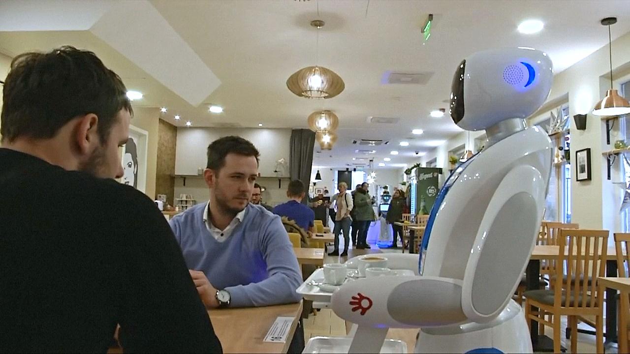 Кафе с роботами открылось в Будапеште
