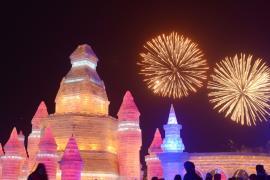 Ледяную сказку показали на грандиозном фестивале снега в Харбине