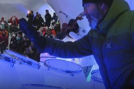 Как звучит музыка на ледяных инструментах в ледяном иглу