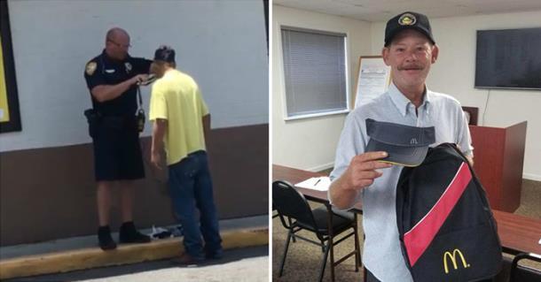 Полицейский помог бродяге побриться и получить работу