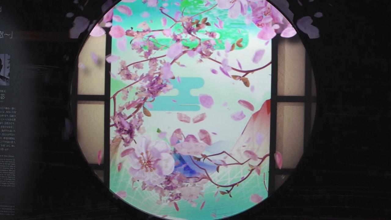 Виртуальные весенние цветы радуют гостей выставки в Токио