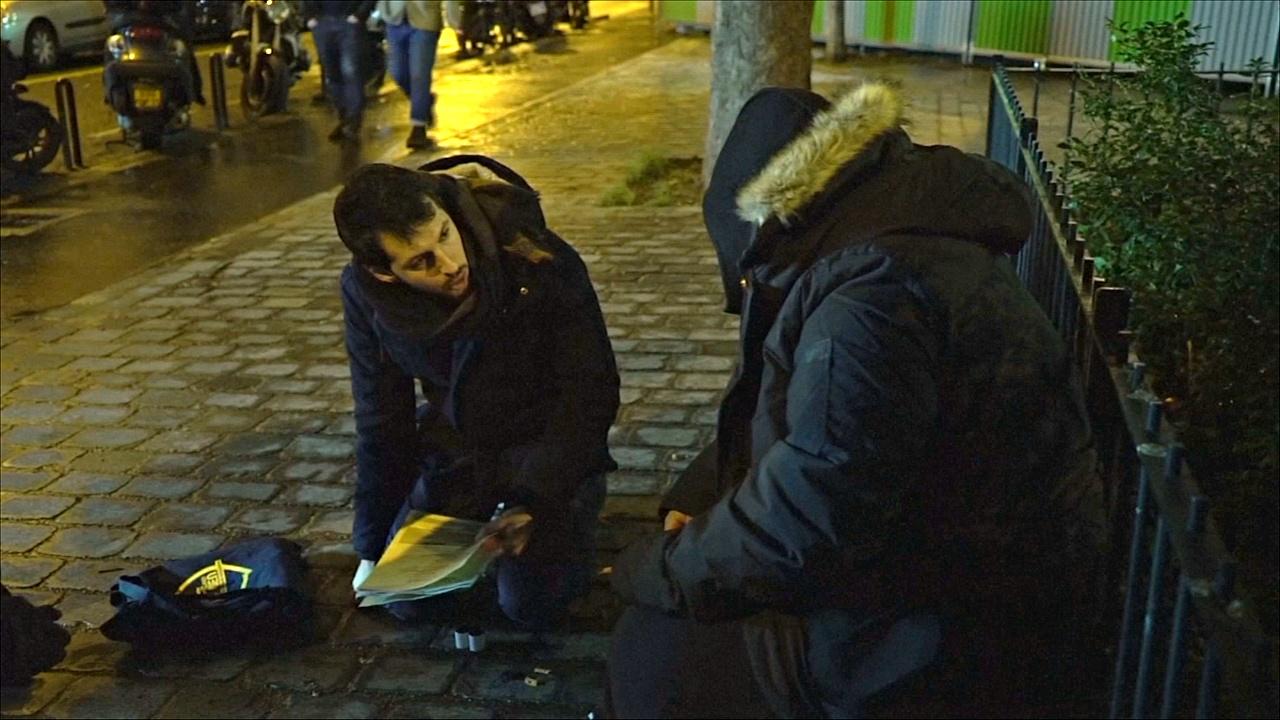 В Париже пересчитали бездомных