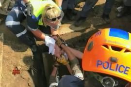 В ЮАР из канализации спасли новорождённую девочку