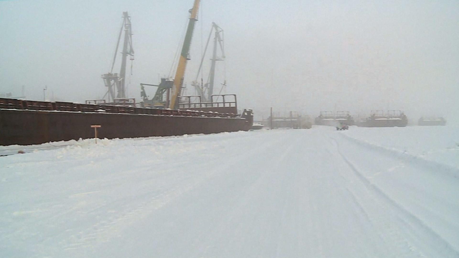 В Сибири для ремонта корабли «вымораживают» изо льда