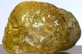 Жёлтый алмаз размером с куриное яйцо показали в Нью-Йорке