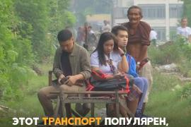 Филиппинцев возят по рельсам не поезда, а «мальчики-вагонетки»