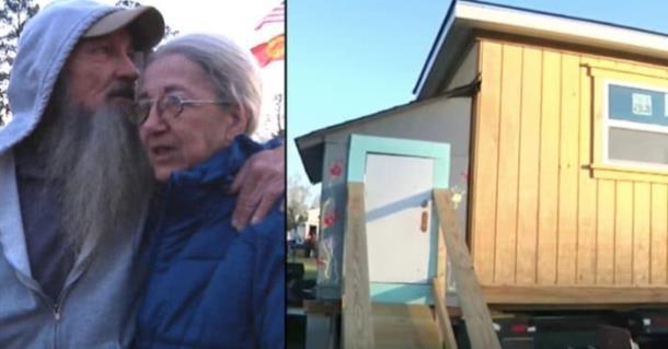 Ветеран с женой получили дом благодаря школьникам