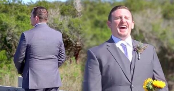 Невеста до слёз рассмешила жениха своим нарядом