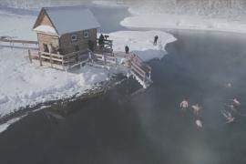 Вулканы Камчатки и горячие источники привлекают туристов