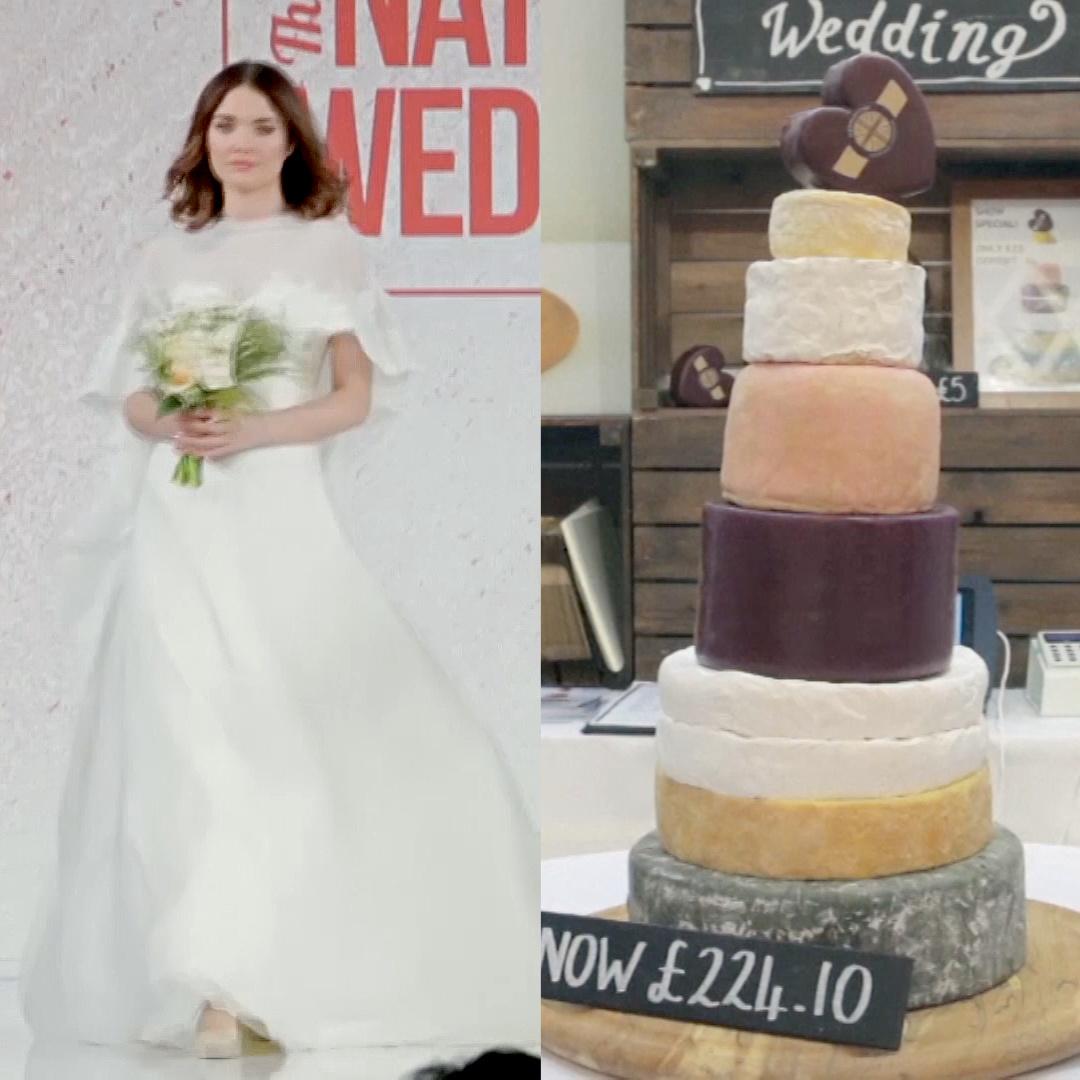 Торт из сыра и накидки: свадебные тренды 2019