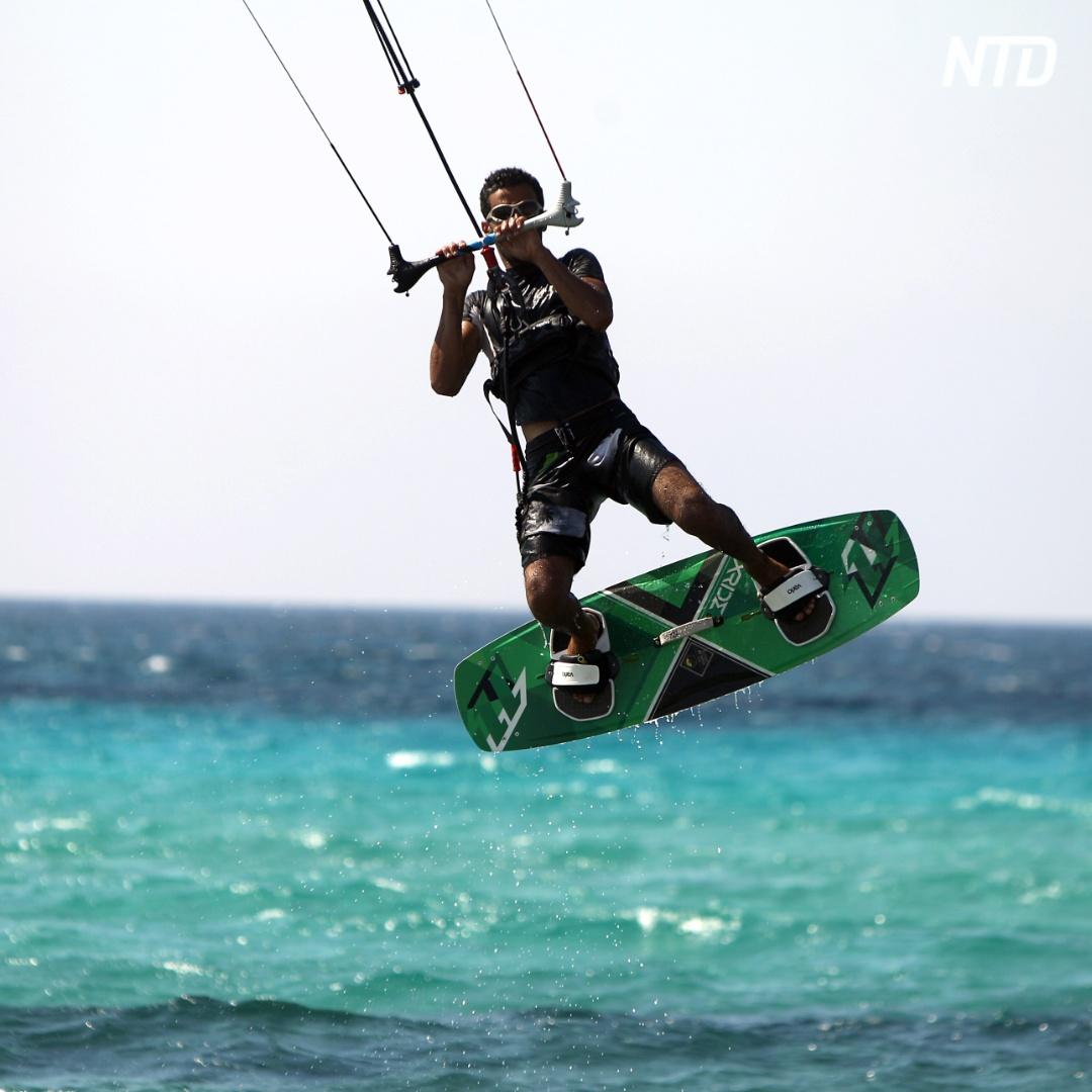 В Ливии тоже занимаются кайтсёрфингом
