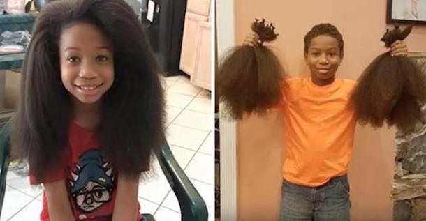 Мальчик два года растил волосы для онкобольных детей