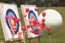 Японская принцесса открыла новую олимпийскую площадку для лучников