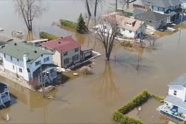 Масштаб наводнений в Канаде сняли с дрона