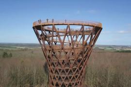 Гигантская смотровая башня выросла посреди датского леса