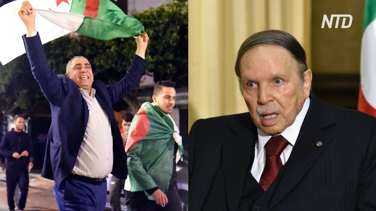 Алжирцы вышли на улицы отпраздновать уход Абделя Азиза Бутефлики