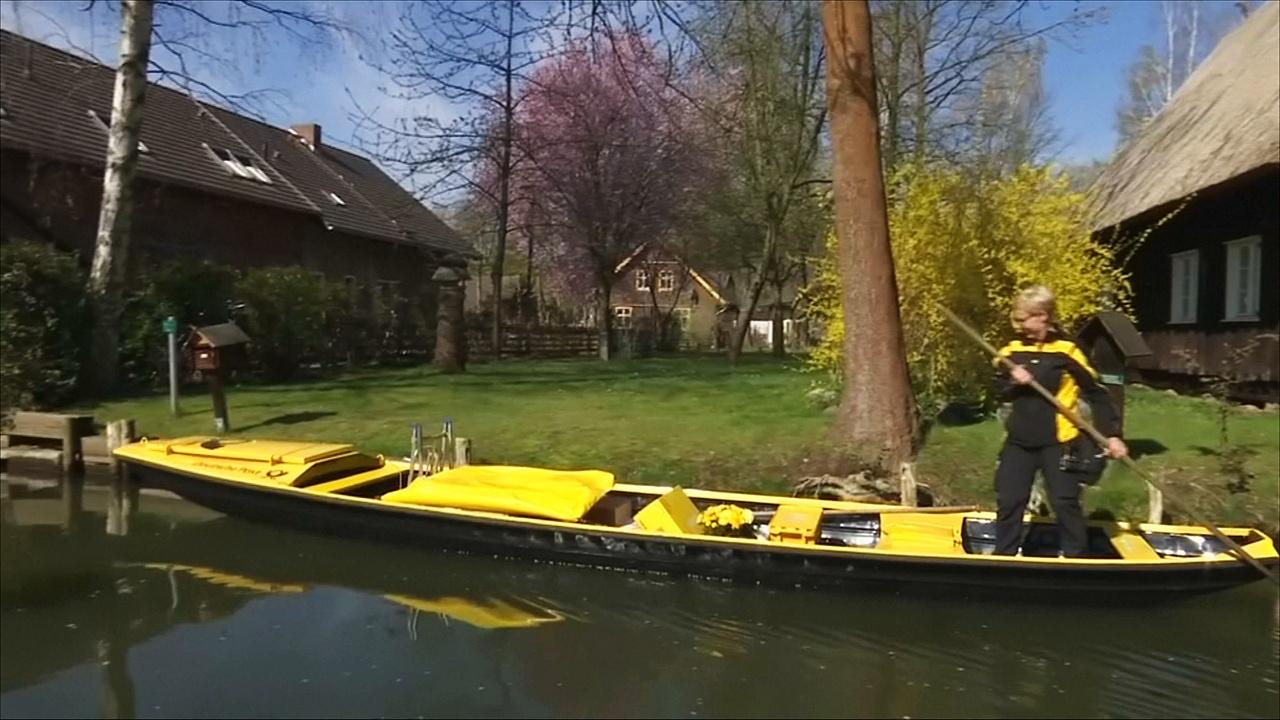 Единственная в Германии почтовая лодка обслуживает деревню в Шпревальде
