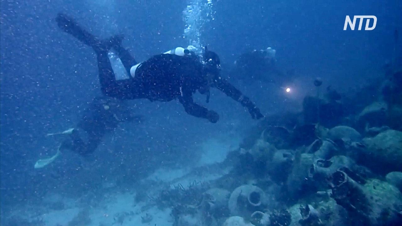 Обломки древнего затонувшего корабля откроют для дайверов в Греции