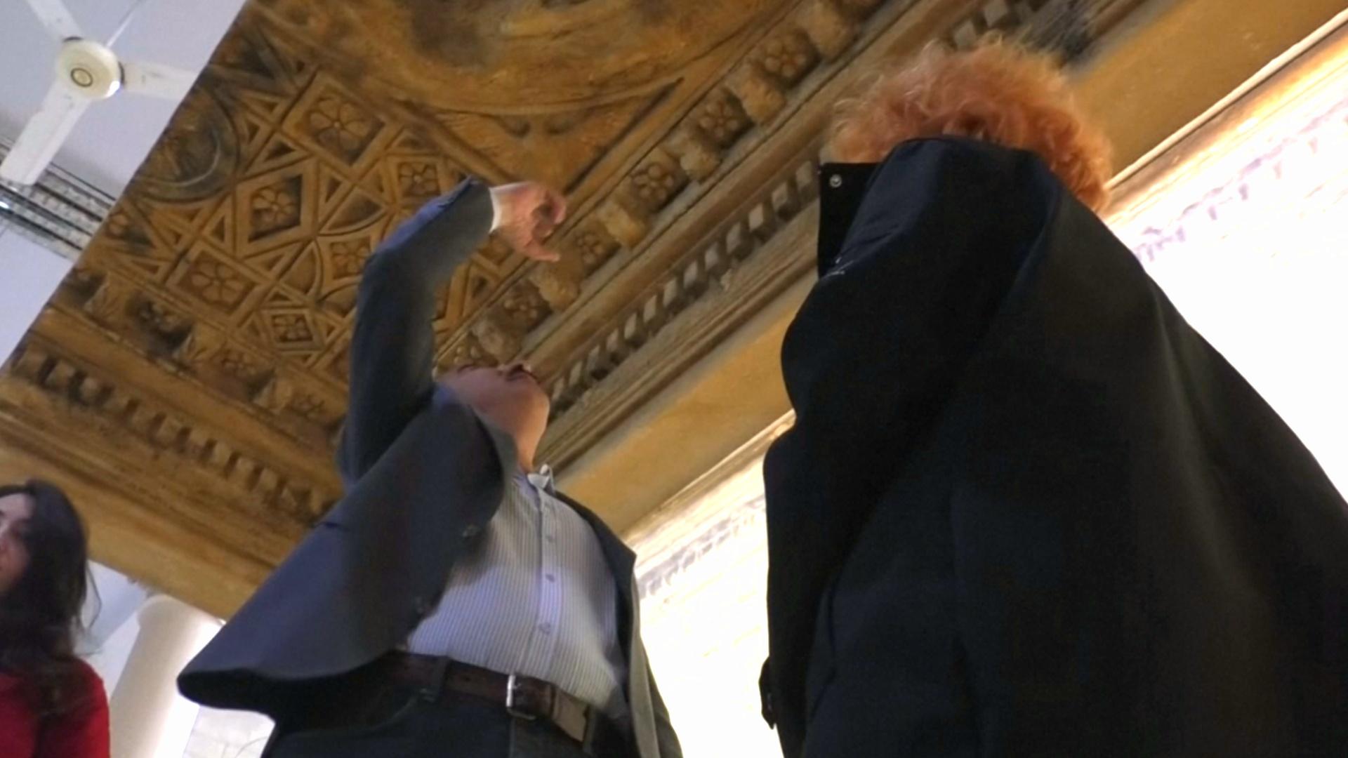 В Дамаске представили копию части алтаря пальмирского храма Баала