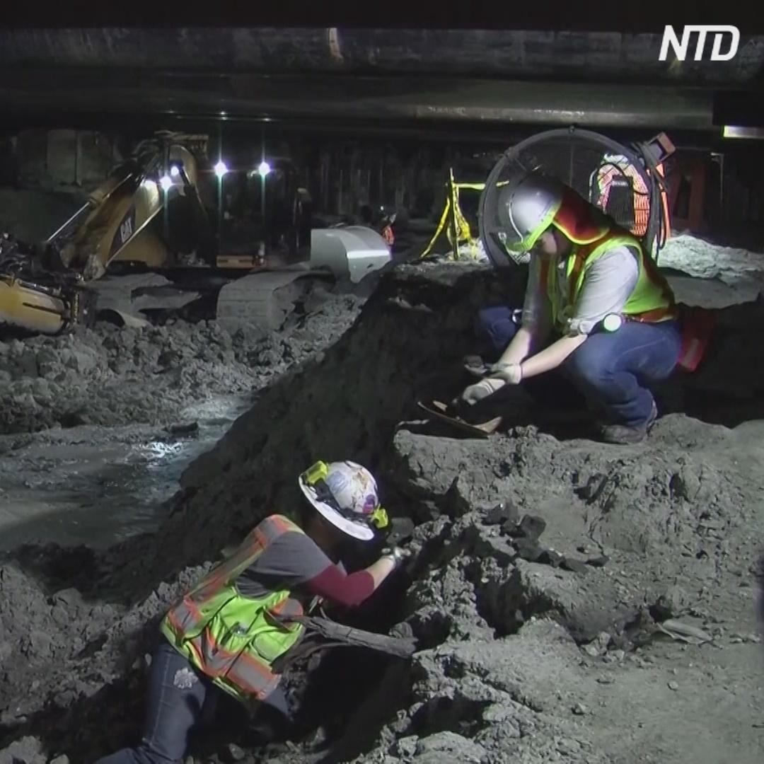 Останки Ледникового периода нашли при строительстве метро