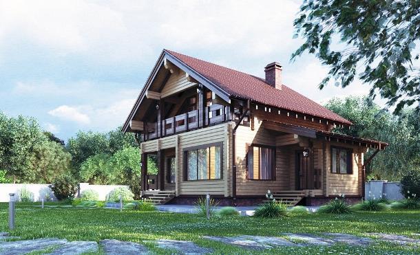 Дом мечты от Студии Клееного Бруса