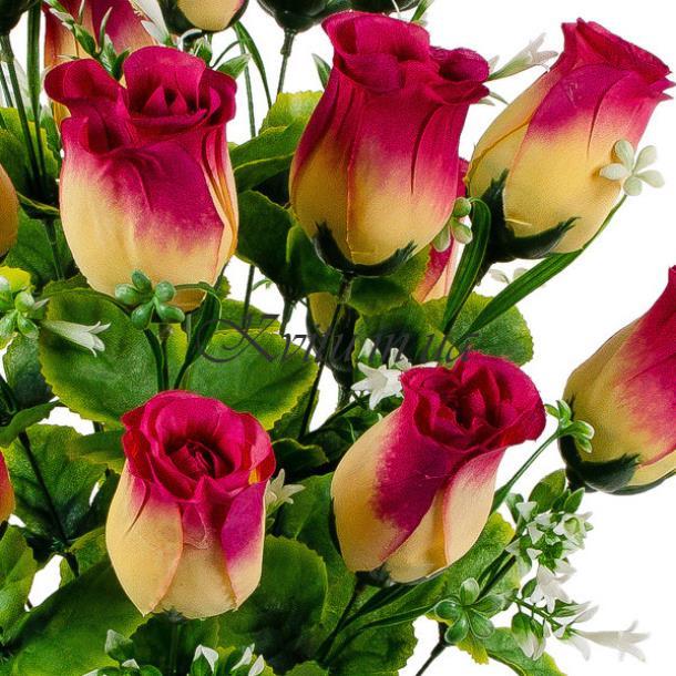 Букет искусственных бутонов роз Макси, 65см