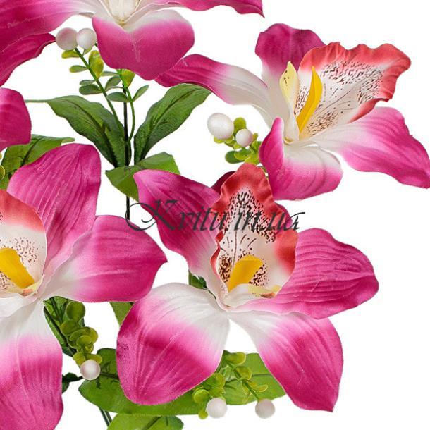 Букет искусственных орхидей крупных, 50см