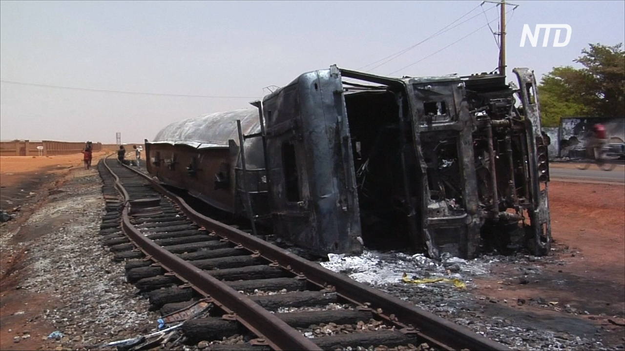 В Нигере взорвался перевернувшийся бензовоз: 58 погибших