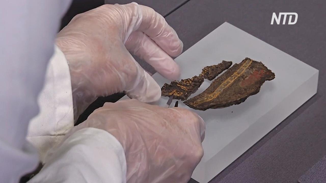 Реликвии из могилы знатного англосакса покажут в Великобритании