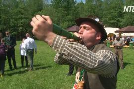 Вабильщики из 13 стран проревели, как олень, на чемпионате в Беларуси