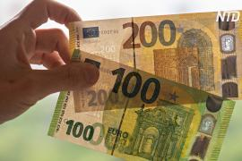 Европейский Центробанк показал новые купюры номиналом 100 и 200 евро